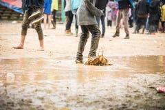 Festival in regen Royalty-vrije Stock Afbeelding