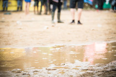 Festival in regen Stock Foto