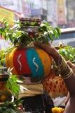 Festival religioso, Bonalu, India imagens de stock