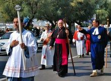 Festival religioso católico el 27 de septiembre en Civitavecchia Imagenes de archivo