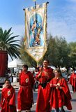 Festival religioso católico el 27 de septiembre en Civitavecchia Foto de archivo