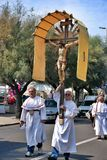 Festival religioso católico el 27 de septiembre en Civitavecchia Imágenes de archivo libres de regalías