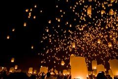 Festival religioso Loy Krathong de Budha Imágenes de archivo libres de regalías