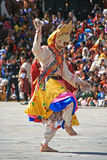 Festival religioso - Thimphu - Bhutan fotografia stock