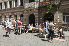 Festival Respublik Colourful Neustadt, Dresda, Germania Fotografia Stock Libera da Diritti