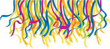 Festival ribbons. Colour illustration of festival ribbons Stock Photos