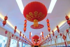 Festival rode lantaarns stock afbeelding