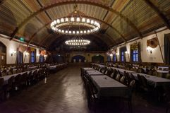 Festival Room at Munich`s HB. Munich Germany 4th January 2018 - Interior of the festival room at the 3rd floor of the Hofbraeuhaus that hosted meetings of the Royalty Free Stock Images