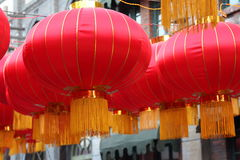 Lanterne rosse Fotografie Stock