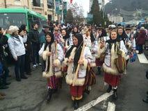 Festival rumano de la Navidad fotografía de archivo