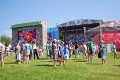 Festival ruso del campo en el parque de Tsaritsyno Fotografía de archivo libre de regalías