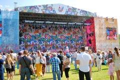 Festival ruso del campo en el parque de Tsaritsyno Imagen de archivo