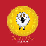 Festival of sacrifice Eid-al-Adha. Greeting card Stock Images