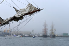 Festival of sailing in the port of Royalty Free Stock Images