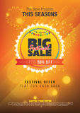 Festival Sale Template. Big Festival Sale Template Background Vector Illustration Royalty Free Stock Photos