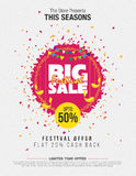 Festival Sale Template. Big Festival Sale Template Background Vector Illustration Stock Photography