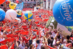 At festival of San Fermin Royalty Free Stock Images