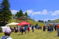 Festival scène-Bulgarie de montagnes de Rhodope Photographie stock