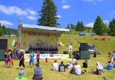 Festival scène-Bulgarie de montagnes de Rhodope Images libres de droits