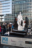 Festival Sculpting de glace de Londres Images libres de droits