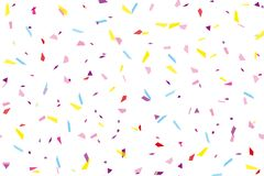 Festival seamless pattern with confetti. Repeating background, vector illustration Rectangular horizontal. royalty free illustration