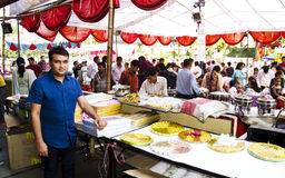 Festival Season - Food Court. Food court selling dry fruits and snacks during diwali festival in india Royalty Free Stock Photos
