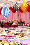 Festival Season - Handloom Shop. Seasonal house hold store during diwali festival in india Royalty Free Stock Image