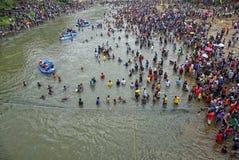 Festival Serayu di interstizio di Iwak Fotografie Stock