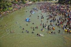 Festival Serayu do interstício de Iwak Imagens de Stock