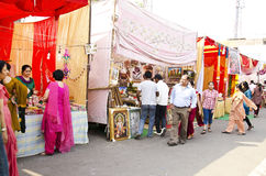 Festival Shopping. People enjoying shopping during diwali festival in india Stock Photography