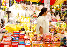 Festival Shopping. Gift items on display during diwali festival in india Royalty Free Stock Images