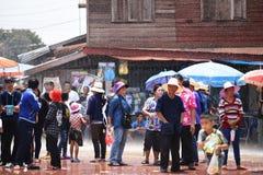 Festival Songkran border Thailand - Laos 2017 Stock Images