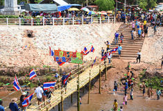 Festival Songkran border Thailand - Laos 2017 Royalty Free Stock Photo