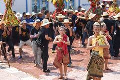 Festival Songkran border Thailand - Laos 2017. Festival Songkran Thailand - Laos 2017 at herng river border loei thailand and bortan chaiyabulee Laos 10 April Stock Image