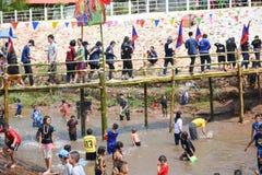 Festival Songkran border Thailand - Laos 2017. Festival Songkran Thailand - Laos 2017 at herng river border loei thailand and bortan chaiyabulee Laos 10 April Royalty Free Stock Images
