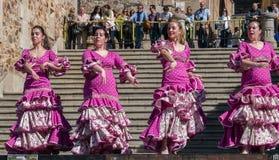 Festival Spagna di ballo di flamenco Immagine Stock