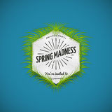 Festival spring madness realistic badge. Can be used for flyers and presentations Royalty Free Stock Photography