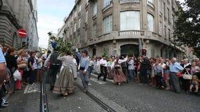 Festival of St John Festa de Sao Joao. stock video