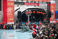 Festival stage - Chinese New year Royalty Free Stock Photo