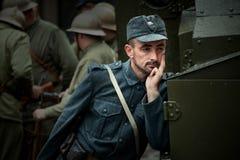 Festival storico militare Chortkiv Athenziv in Chortkiv dal 15 al 17 giugno 2018 1° ottobre 2016 Soldati del Immagine Stock Libera da Diritti