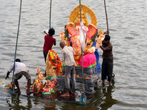 Festival Submersion-Indou de Ganesh Images stock