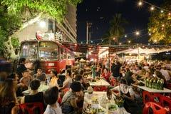 Festival superbe de Loi-Krathong de fullmoon Photos libres de droits