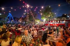 Festival superbe de Loi-Krathong de fullmoon Photographie stock libre de droits