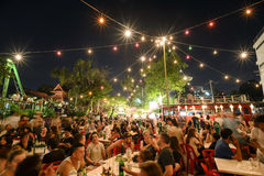 Festival superbe de Loi-Krathong de fullmoon Images libres de droits