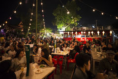 Festival superbe de Loi-Krathong de fullmoon Photographie stock