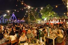 Festival superbe de Loi-Krathong de fullmoon Photos stock