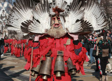 Festival Surva do disfarce em Pernik fotos de stock royalty free