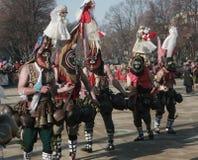 Festival Surva do disfarce em Pernik imagens de stock royalty free