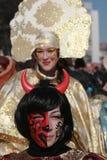 Festival Surva do disfarce em Pernik fotografia de stock