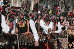 Festival Surva do disfarce em Pernik imagem de stock royalty free